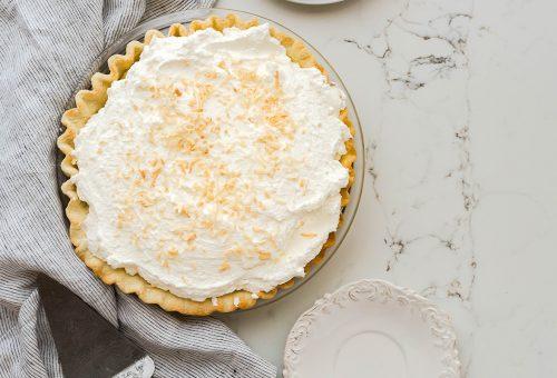 Könnyed kókuszkrémes pite sütés nélkül