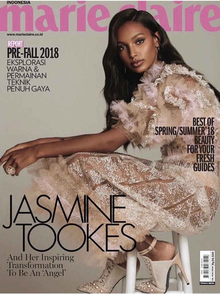 5. kép: Jasmine Tookes az indonéz Marie Claire címlapján ABODI-ban