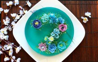 Lenyűgöző 3D zselé desszertek halakkal, virágokkal
