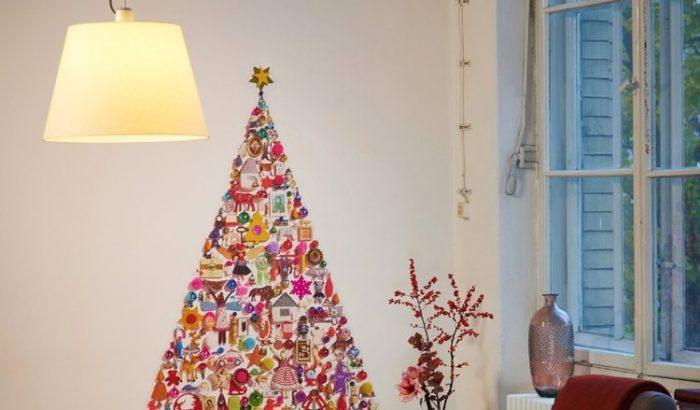 Karácsonyfatetkó a falra