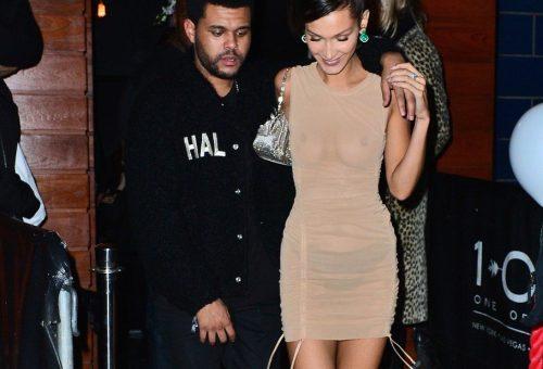 Bella Hadid mellbimbóvillantós ruhában bulizott a VS-show után
