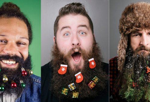 Karácsonyi dekort kaptak a legszebb hipszterszakállak