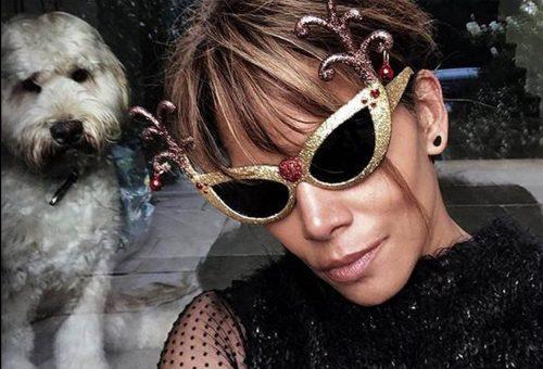 Halle Berry a kutyáival pózol a két ünnep között
