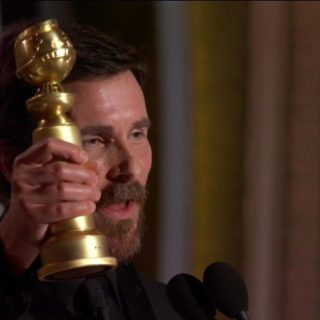 Christian Bale a Sátánnak köszönte meg a Golden Globe-díját