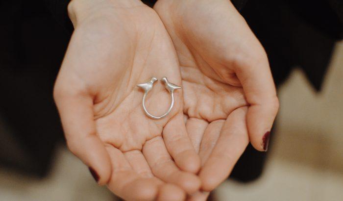 Turbékoló designgyűrű – nem csak Valentin-napra