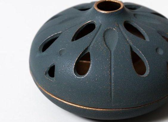 Rusztikus aromapárologtató bronz belsővel