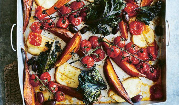 Egytepsis vega vacsora édesburgonyával és fodros kellel