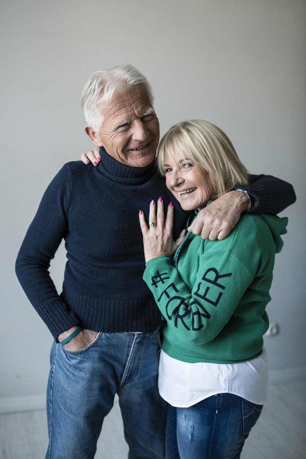 9. kép: Molnár Elemérné Kamilla (66) és Csutorka László (60+)