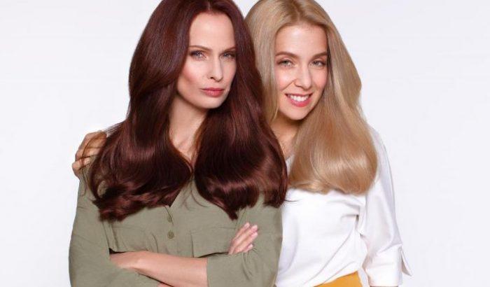 Dobó Kata és Kovács Patrícia egy szépségkampányban