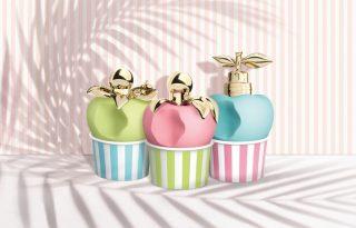 Álomszép parfümtrió púderszínű almákba rejtve