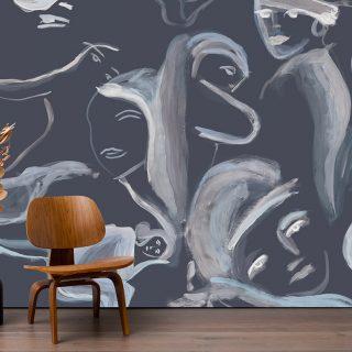 A vízfesték érzékenysége köszön vissza ezeken a designer tapétákon