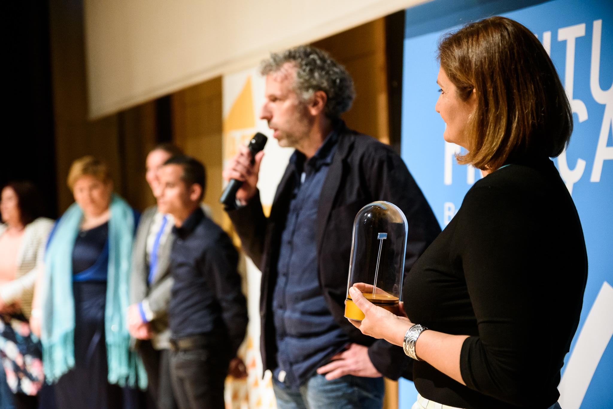 5. kép: Miklósi Gábor, az Index főszerkesztő-helyettese és László Krisztina a Marie Claire főszerkesztője