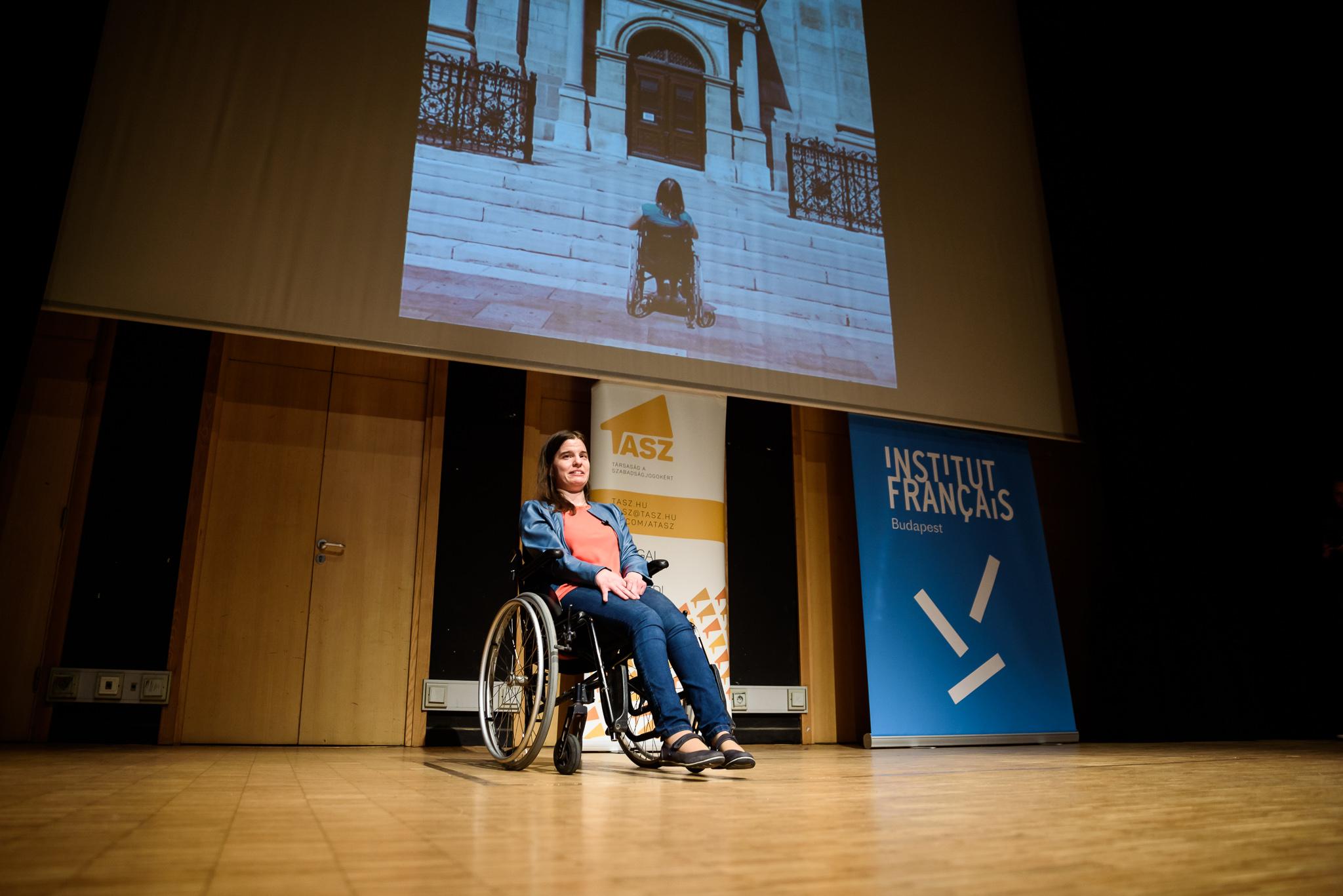 11. kép: Molnár Zóra az Önállóan lakni, közösségben élni mozgáskorlátozott csoport vezetője