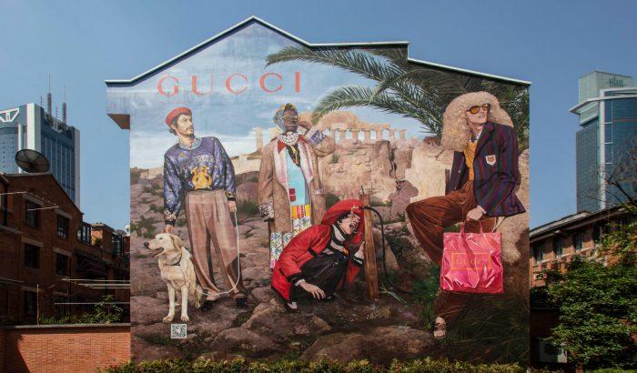 Gyönyörű tűzfalakat festett a Gucci