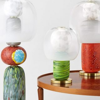 A muránói üveg ihlette ezt a gyönyörű designer lámpát