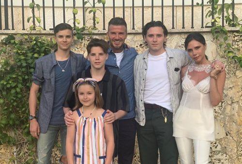 Beckhamék családi fotója a nyaralásról