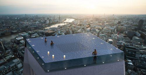 a9f212f0e6 Áttetsző falú medence nyílt Londonban egy felhőkarcoló tetején