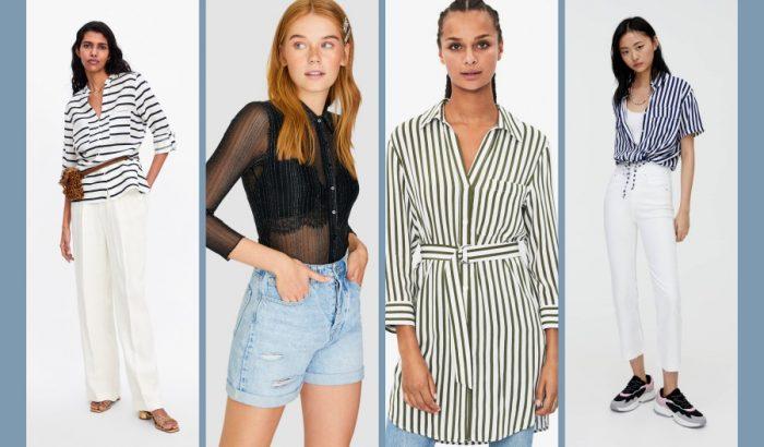 Alakformáló csíkos ing a hűvösebb nyári napokra