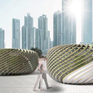 Magyar építész tervezte oxigéntermelő algapavilon