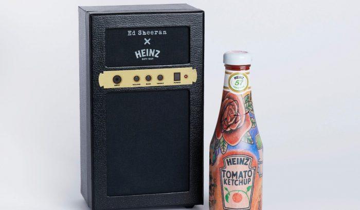 Ed Sheeran tetkómintás ketchupot tervezett