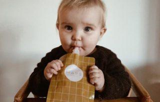 Sokszorhasználatos gyümölcspüré-tasak segíti az anyukák ökotörekvéseit