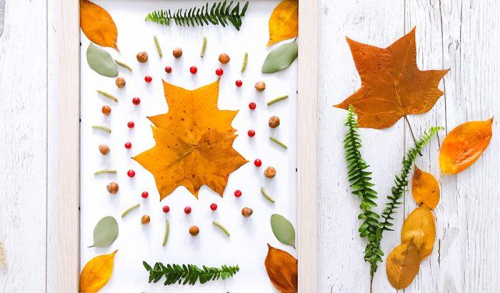 DIY: őszi képek termésekből