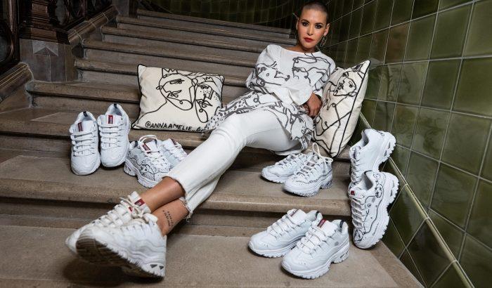 Egyedi grafikával tette különlegessé a Skechers modelljeit az Anna Amélie tervezője