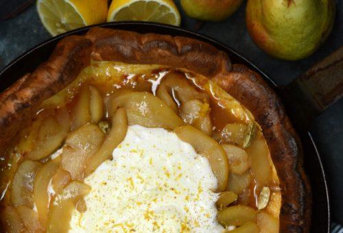 Őszi finomság: sütőben sült körtés palacsinta