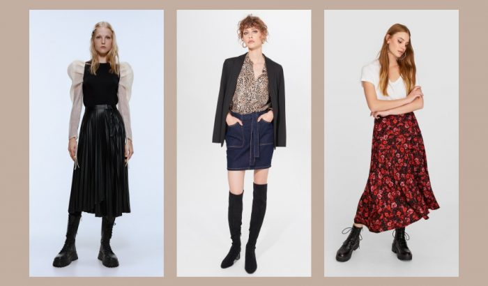 Kedvenc őszi szoknyáink a kockástól a plisszírozottig