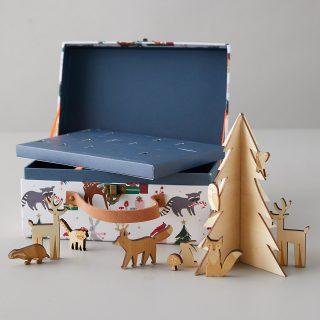 Erdei állatokkal várja a karácsonyt a legszebb adventi naptár