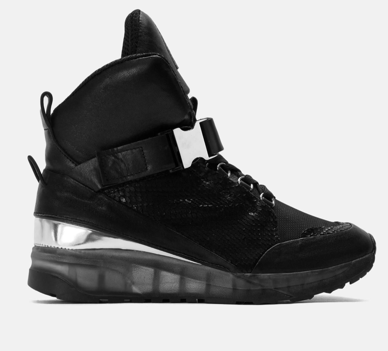 4. kép: Leslie fekete utcai sportcipő 29.990 forint