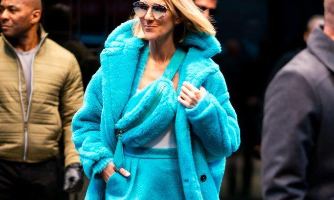 Celine Dion Hupikék törpikéket megszégyenítő outfitben vonult