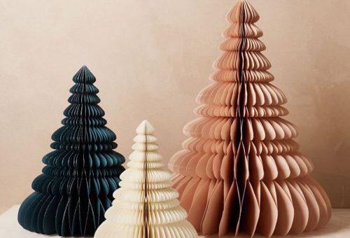 Gyönyörű alternatív karácsonyfák papírból