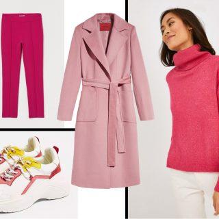 Egy rózsaszín kabát három szettben