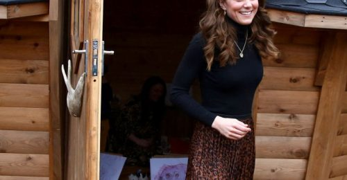 Kate Middleton Zara szoknyában