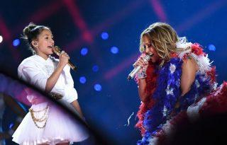 Jennifer Lopez lánya volt az est sztárja - Super Bowl