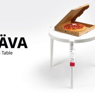 Az IKEA és a Pizza Hut közös asztalt tervezett