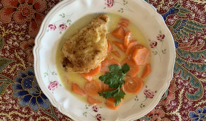 Napi receptsztori: sárgarépa-főzelék bundás husival