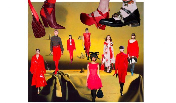 A piros szín átvette az uralmat a londoni divathét felett