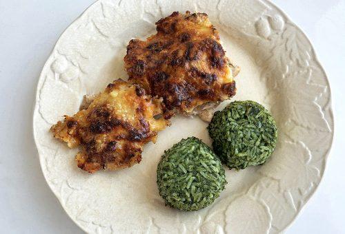 Napi receptsztori: almás-fahéjas-sajtos csirkemell spenótos rizzsel