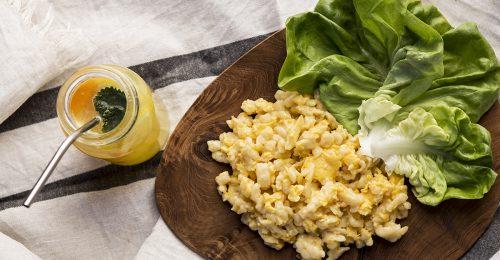 Napi receptsztori: tojásos nokedli fejes salátával