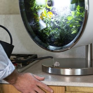 Futurisztikus minikert a lakásban