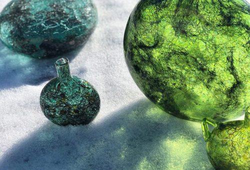 Galaktikus textúra muránói üvegből