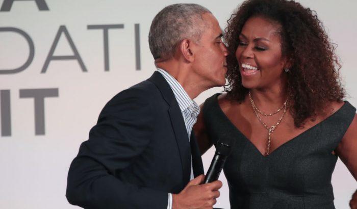 Michelle Obama romantikus fotóval köszöntötte férjét a házassági évfordulójukon