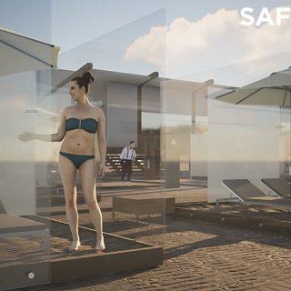 Plexifülkékkel tenné biztonságossá a tengerparti nyaralást egy dizájner
