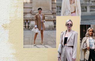 Bézs blézer és fehér táska – a tuti irodai páros nyárra