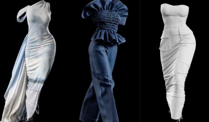 Ilyen egy 3D-s digitális divatbemutató modellek nélkül