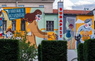 Hitka Viki falfestményével mondanak köszönetet a budapestieknek