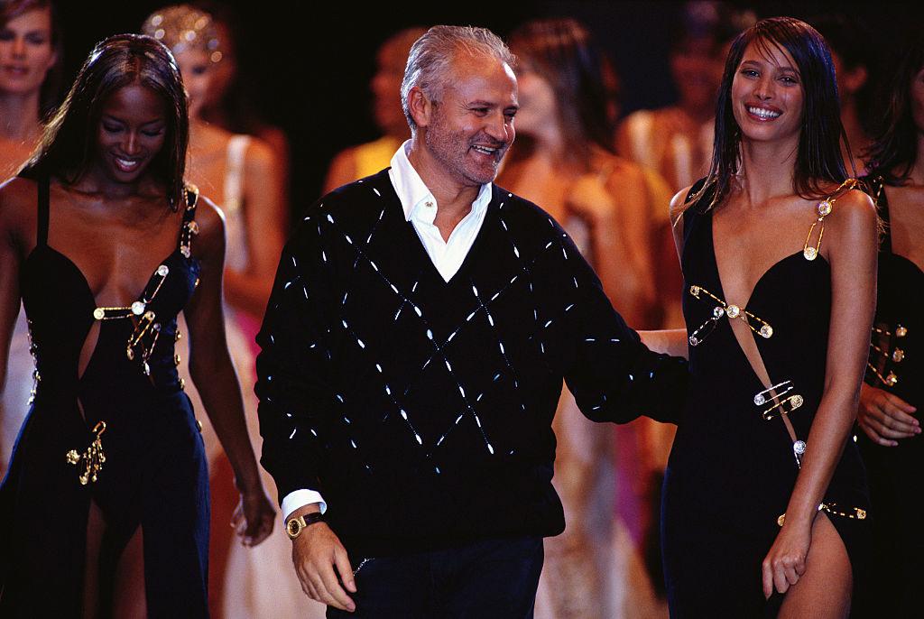 Naomi Campbell, Gianni Versace és Christy Turlington