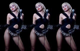 Miley Cyrus luxusmárkák ruháiban pózol az új klipjében